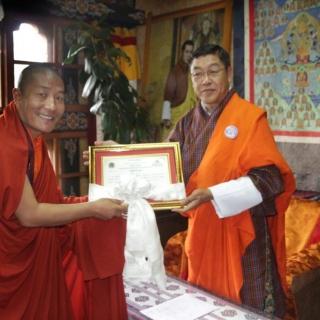Baza Guru Rinpoche and Home Minister